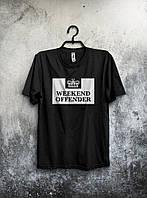 Черная футболка Weekend Offender (большой принт)
