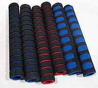 Ручка поролоновая, 4 штуки в комплекте синие,красные,зеленые,черные