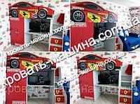 Кровать чердак ФЕРРАРИ ДРАЙВ купить кровать-машина.com.ua - недорогое решение для детской комнаты! Бесплатная доставка по Украине!