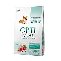 Сухой корм OPTIMEAL (Оптимил) для щенков всех пород с индейкой 12КГ