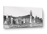Картина на металле: Вечерний Гонконг
