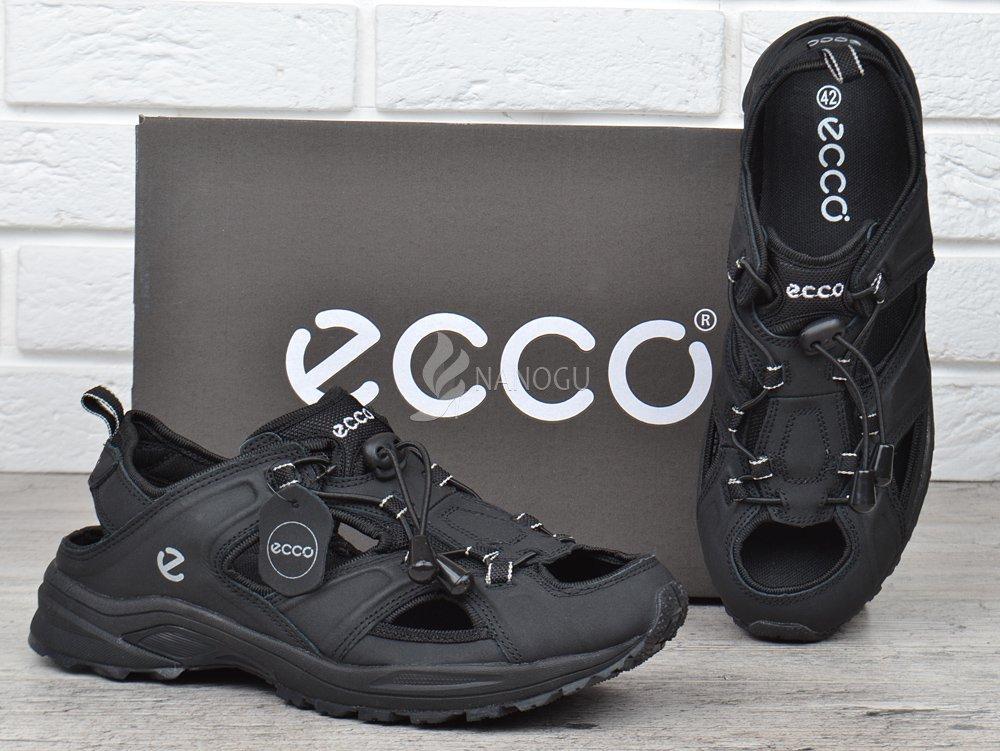 d10168aaaaaa Сандалии мужские кожаные черные Ecco спортивные , Черный, 46, цена 1 ...