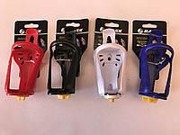 Крепление для баклашки. ВЕЛО. пластик.BAISK цвет:красный.синий.белый.черный