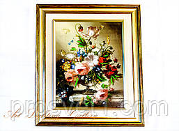 Картина маслом А31 (Цветы в вазе)