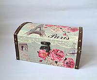 Декоративна скринька Париж 26*16*14 см Декоративная шкатулка Париж