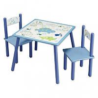 Детский стол +2 стула Kesper Динозавры