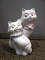 Статуэтка копилка фарфоровая Пара котиков