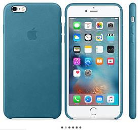Кожаный чехол Apple Leather Case для Iphone 6 Plus | 6S Plus (Blue | Голубой) Original