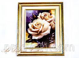 Картина маслом А34 (Белые розы)
