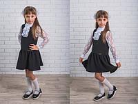 Платье школьное черное