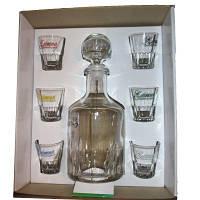 9505 Графин+6рюмок-набор для водки Элит