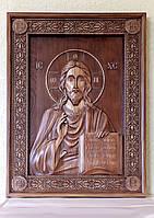 Резная Икона  - Господь Вседержитель 850х650