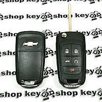 Корпус выкидного ключа для Chevrolet Camaro, Corvette (Шевролет Камаро, Корвет)  4 + 1 кнопки
