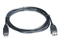 Кабель REAL-EL USB2.0 AM-AF (удлинитель) 3m черный