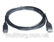 Кабель REAL-EL USB2.0 AM-AF (подовжувач) 1,8 m чорний