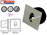 Светодиодный светильник квадрат встраиваемый 3W Horoz Electric HL 957L Zumrut матовый хром