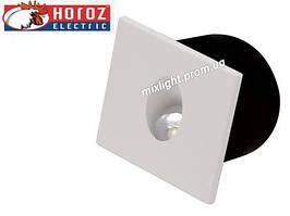 Светодиодный светильник квадрат встраиваемый 3W Horoz Electric HL 957L Zumrut