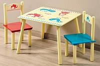 Детский стол +2 стула Kesper Животные