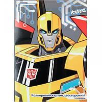 Картон цветной двухсторонний А4 Kite Transformers TF17-255 (10 листов)