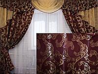 Комплект ламбрекен (№50) с шторами на карниз 2,5-3м. 050лш089