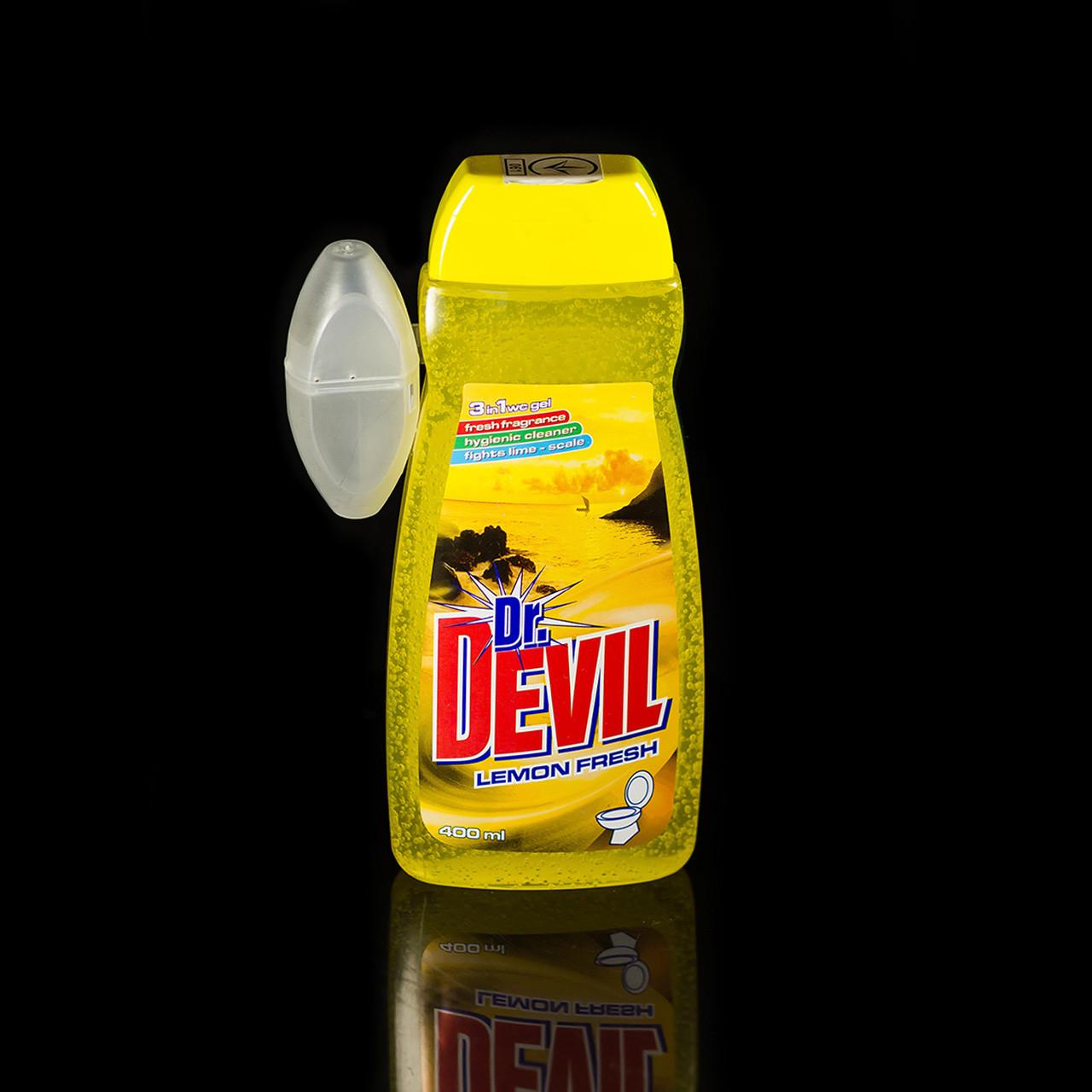 Гель для унитазов Dr. Devil Lemon Девил Лимон 400 мл запасной блок - Интернет-магазин sevenMART  в Одессе