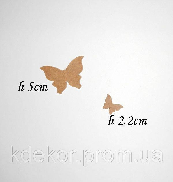 Метелик (висота 2,2 див.) заготівля для декупажу та декору