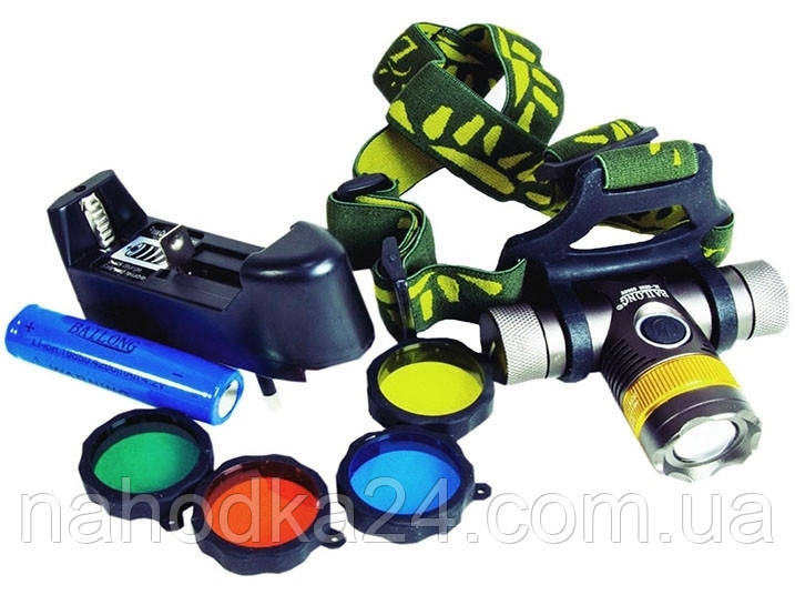 Налобный фонарь Police BL-6836 T6 (3 фильтра)