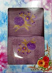 Подарочный набор махровых полотенец Цветочная Нежность