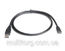 Кабель REAL-EL USB2.0 AM-Type C 1m чорний