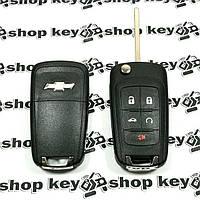 Оригинальный выкидной ключ для Chevrolet Cruze, Camaro, Corvette (Шевролет) 4 + 1 кнопки, чип id46/315MHz