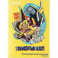 Цветная бумага неоновая А4 Kite Transformers TF17-252 (10 листов, 5 цветов)