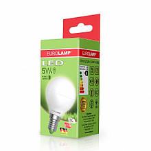LED Лампа EUROLAMP ЕКО G45 5W E14 3000K