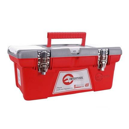 Ящик для инструмента с металлическими замками INTERTOOL BX-0513, фото 2