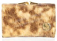 Небольшой лаковый элитный женский кошелек с кожи высокого качественный art. 8356-B12 перламутр