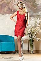 Очаровательное женское летнее  платье 2167 красный