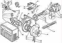 Запасные части к одноступенчатой горелке Riello серии 40 F 20