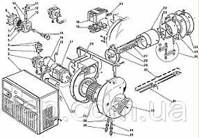 Запасні частини до одноступеневою пальником Riello серії 40 F 20