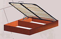 Короб кровати с подъемным механизмом на металлическом каркасе с ламелями