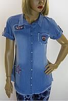 Рубашка джинсовая  с принтами Big Dart
