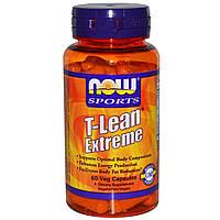 Now Foods, T-Lean Extreme, препарат для контроля веса для спортсменов, 60 растительных капсул