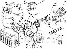 Запасні частини до одноступеневою пальником Riello серії 40 F 10