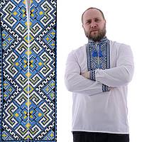 Мужская вышиванка на домотканом полотне Назар
