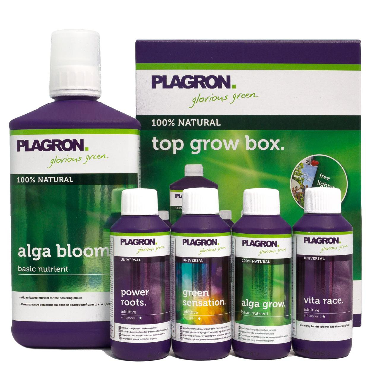 PLAGRON Top Grow Box 100% Bio. Комплект удобрений для гидропоники и биопоники. Оригинал. Нидерланды.