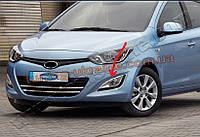 Окантовка на противотуманные фары Omsa на Hyundai i20 2012-2014