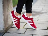 Кроссовки Adidas gazelle red. Живое фото. Топ качество! (адидас газель)