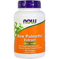 Now Foods, Saw Palmetto экстракт, 90 Softgels