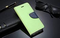 Зеленый чехол-книжка с ремешком на руку и функцией подставки для Iphone 5/5S