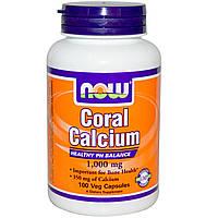 Now Foods, Кальций из кораллов, 1000 мг, 100 капсул на растительной основе