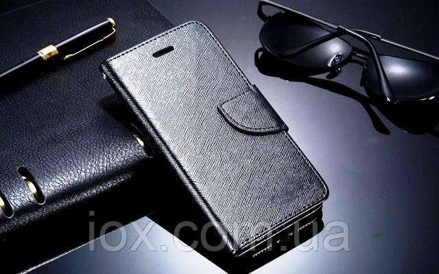 Чорний чохол-книжка з ремінцем на руку і функцією підставки для Iphone 5/5S