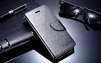 Черный чехол-книжка с ремешком на руку и функцией подставки для Iphone 5/5S